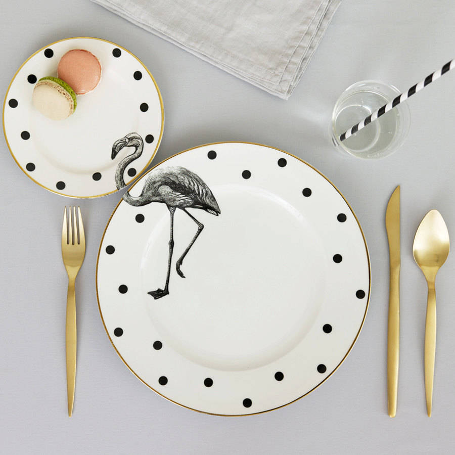 yvonne-ellen_animal-plate-set_flamingo