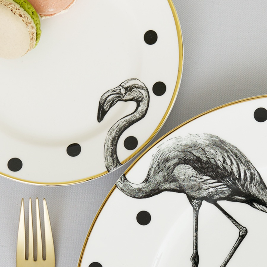 yvonne-ellen_animal-plate-set_flamingo_2
