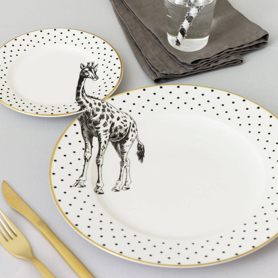 yvonne-ellen_animal-plate-set_giraffe