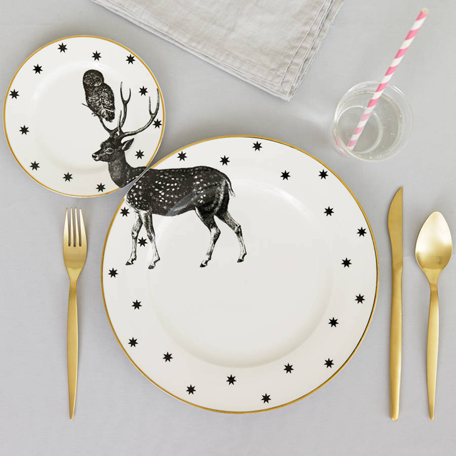 yvonne-ellen_animal-plate-set_stag