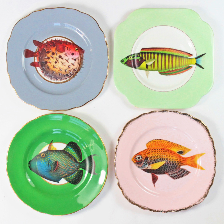 yvonne-ellen_vintage-fancy-fish-plate-set