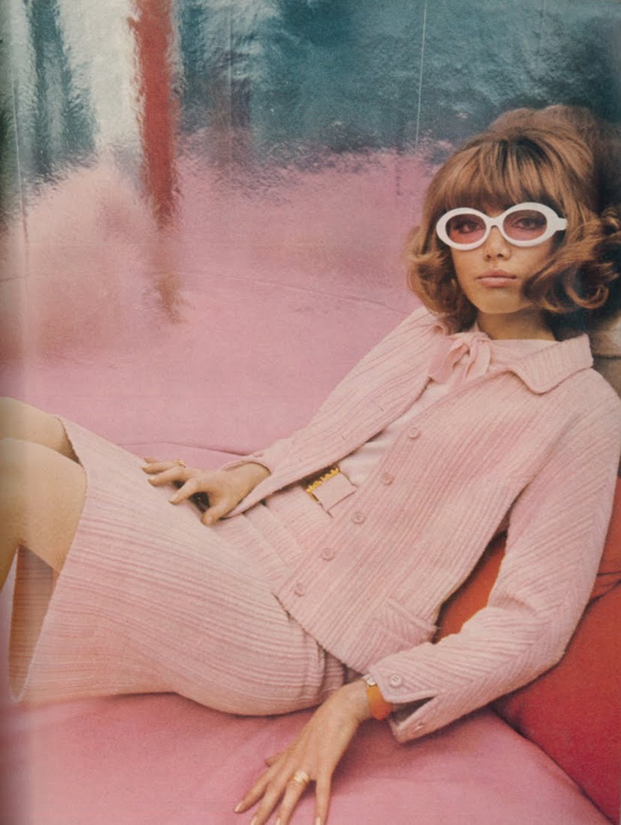 Pink - Eugene Vernier - British Vogue - February 1966