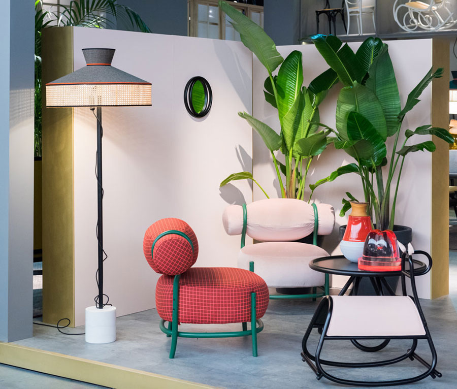 Salone del Mobile 2017 - Gebruder Thonet - Chignon by LucidiPevere, Wagasa by Servomuto