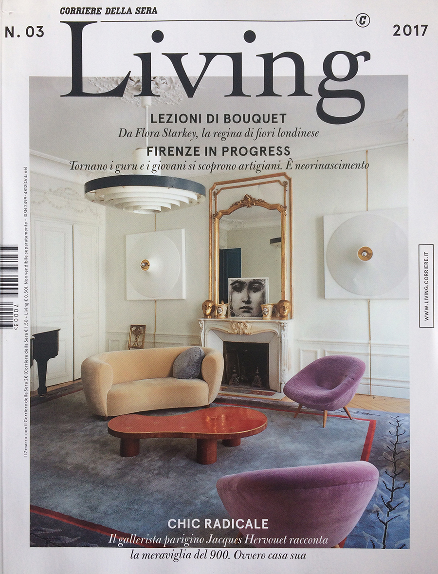 Pink - Living magazine cover - N°3 - 2017 - Jacques Hervouet - RAAK Amsterdam - Verner Panton - Theo Ruth - Jean-Pierre Vasarely