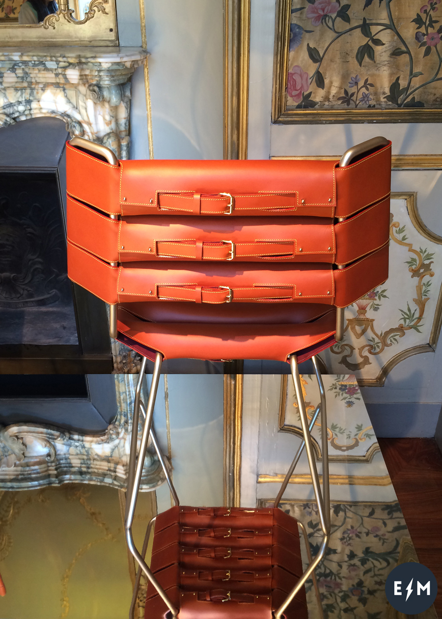 Fuorisalone 2017 - Louis Vuitton - Objets Nomades - Belt Chair by Atelier Oi