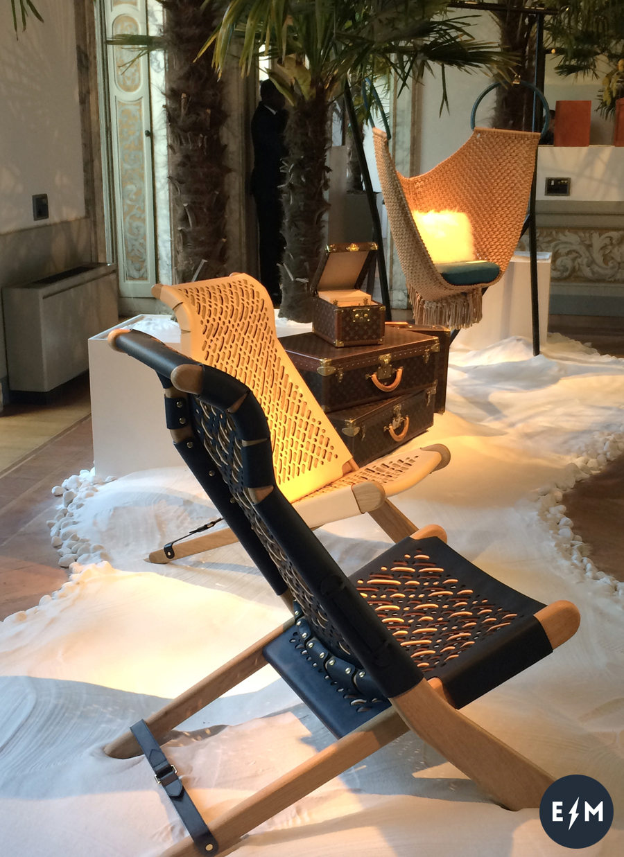 Fuorisalone 2017 - Louis Vuitton - Objets Nomades - Palaver e Swing Chair by Patricia Urquiola