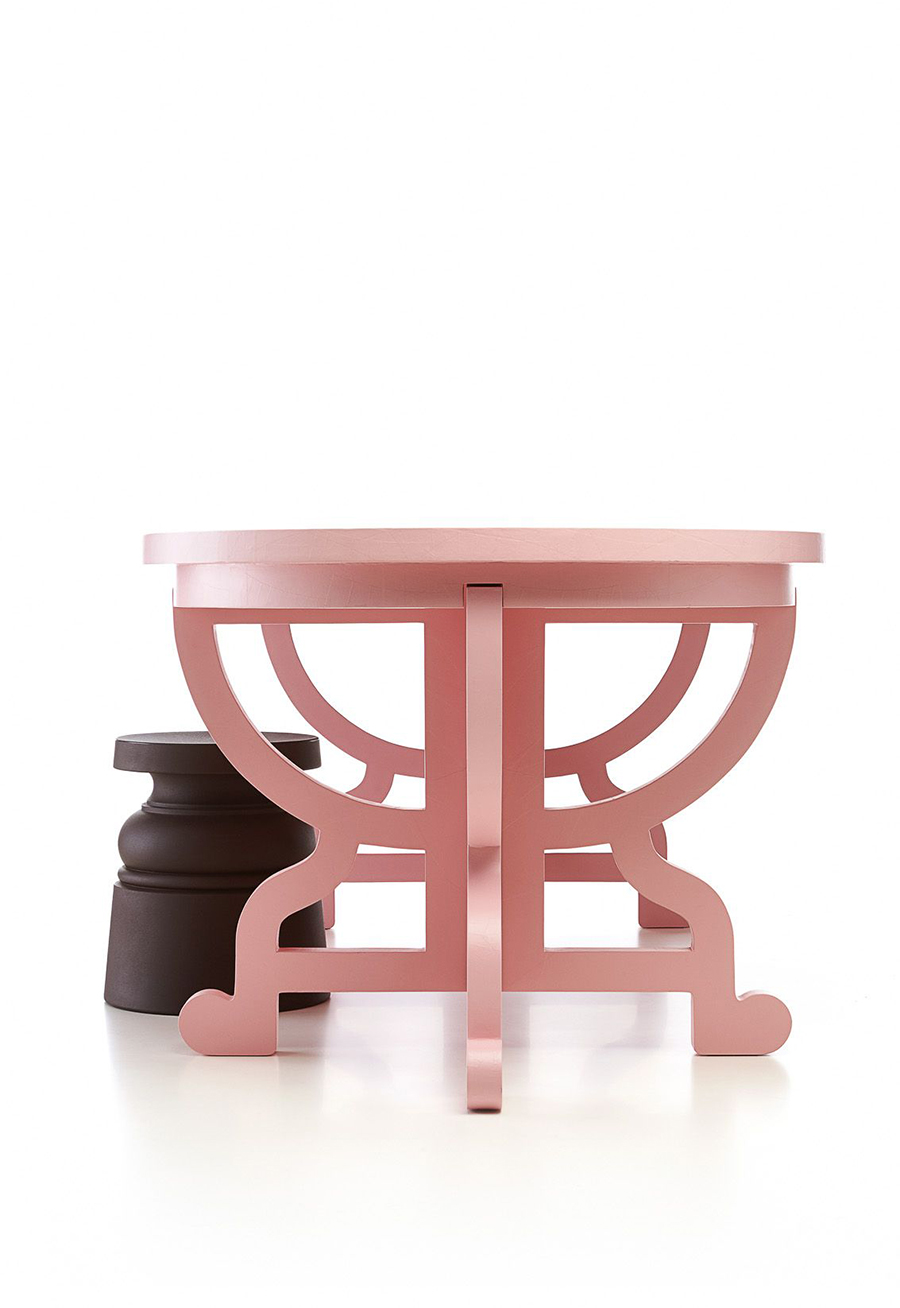 Pink - Paper Table - Studio Job - Moooi
