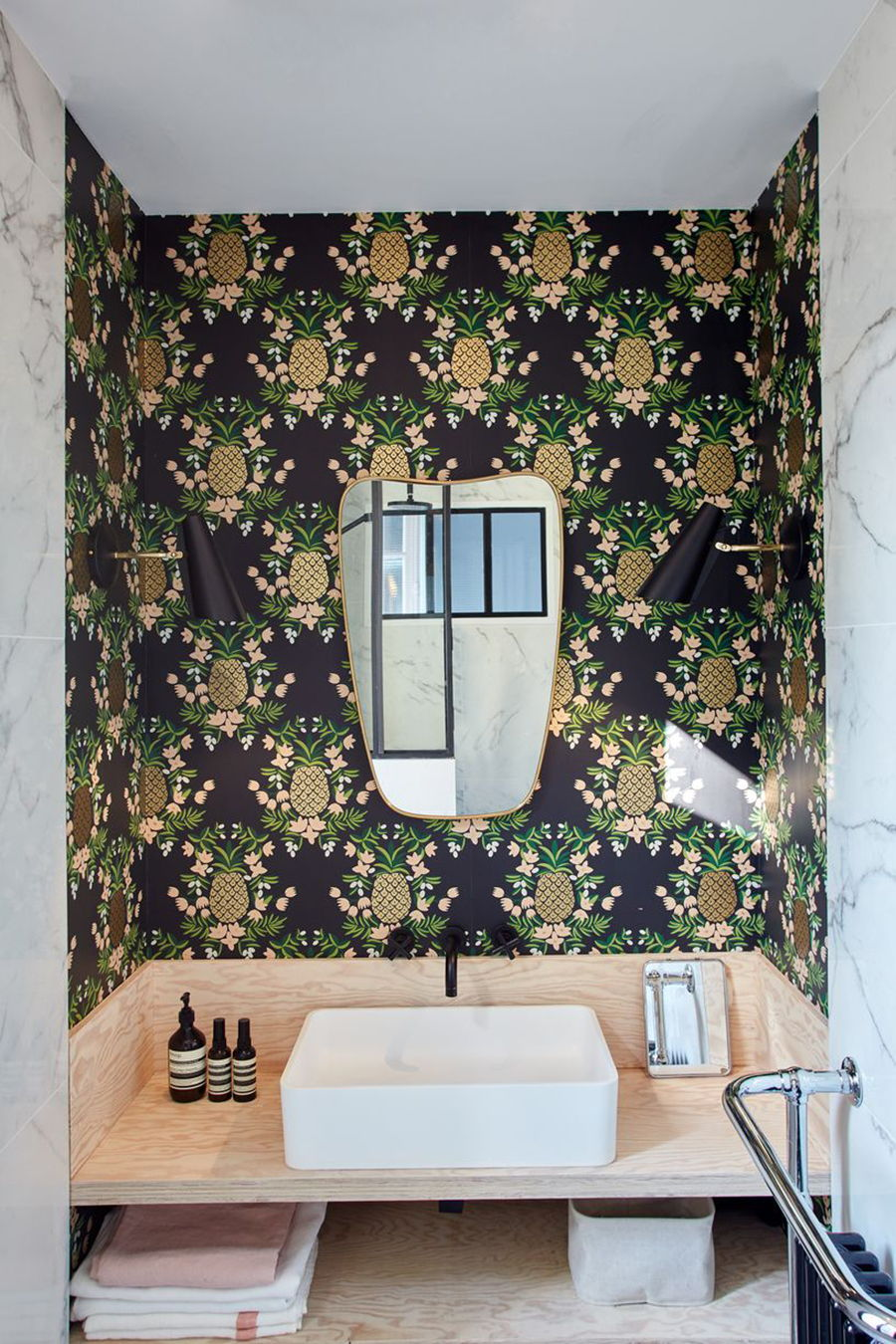 GCG Architects - Jean Jauré - patterned bathroom