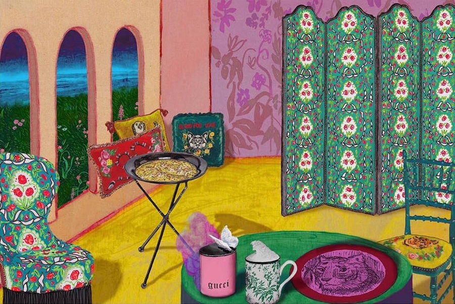 Gucci Décor - illustrazione by Alex Merry