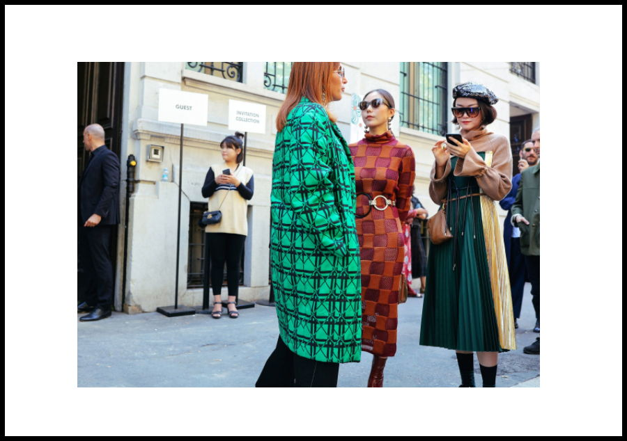 Street style MFW - SS 2018 - Vogue USA - pattern