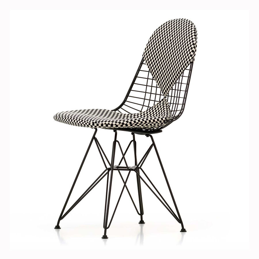 Vitra - Wire Chair Checkered Bikini Tartan - design Charles and Ray Eames