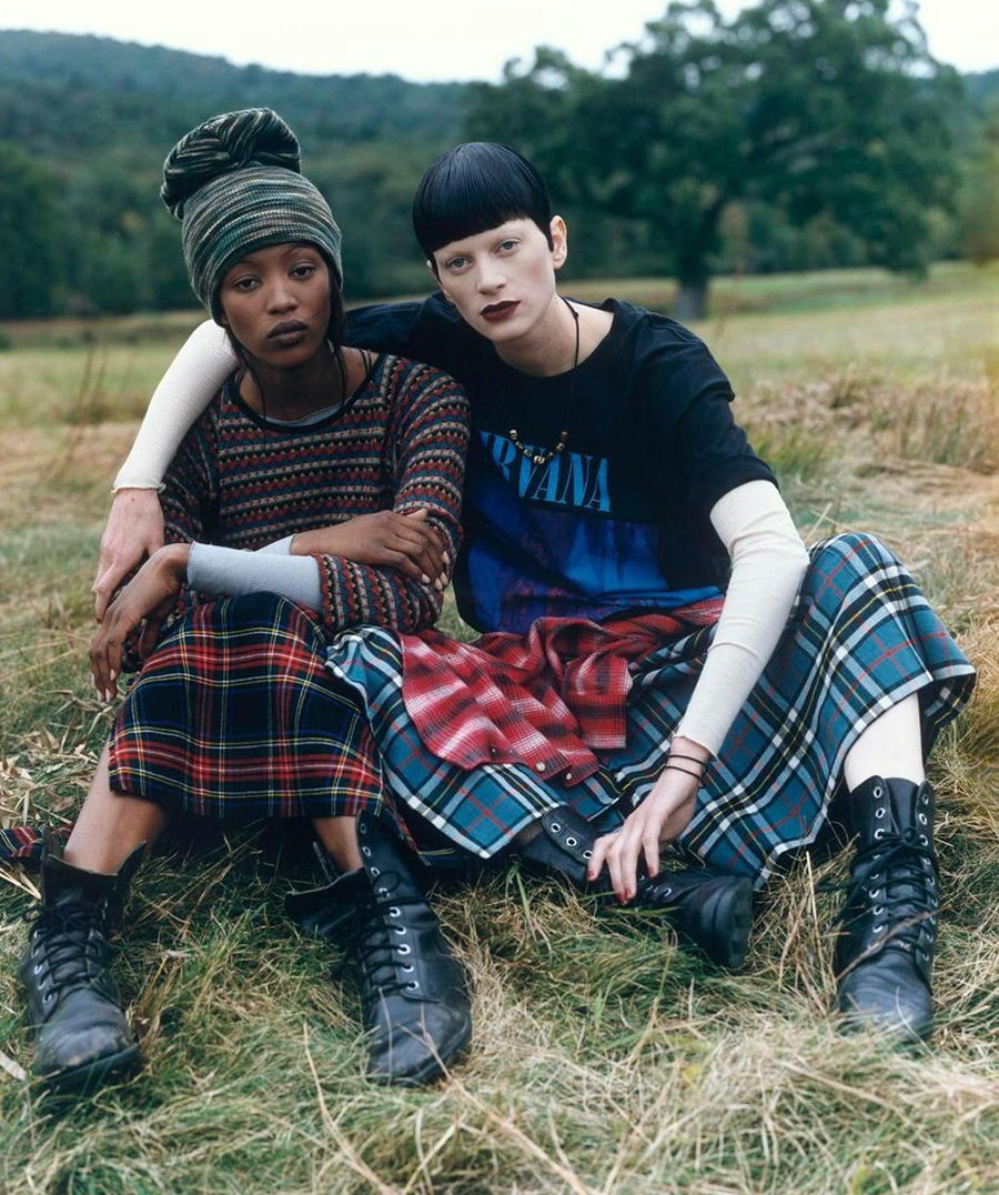 Grunge & Glory - Vogue US - Dicembre 1992