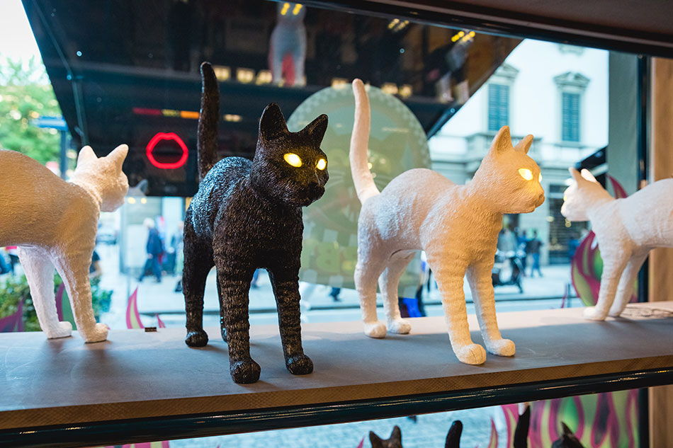 Seletti - Lampade Jobby The Cat - Studio Job - Milano Design Week 2018